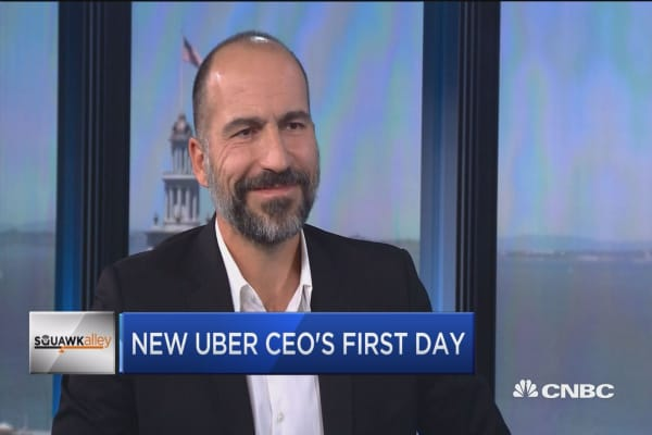 New Uber CEO's first day
