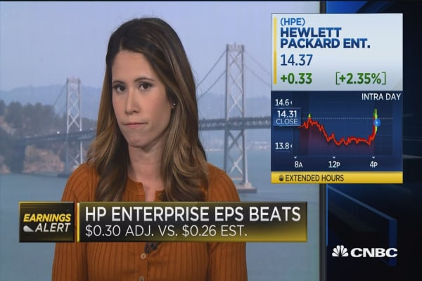 Hewlett Packard Enterprise jumps 5% after earnings beat