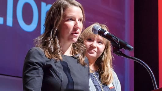 Guild Education co-founders Rachel Carlson (CEO) and Brittany Stich.