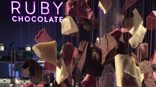 Barry Callebaut's Ruby Chocolate on display