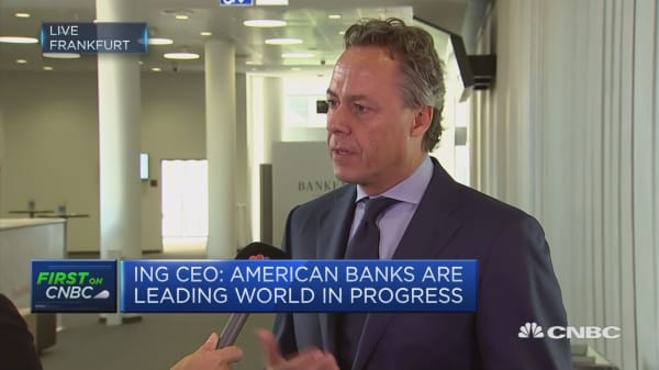 ING CEO: Banks are being disrupted by negative rates, digitalization