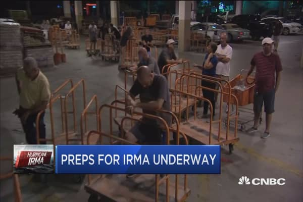 Florida preps for massive storm Irma