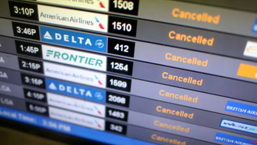 Airlines cancel flights ahead of Hurricane Irma.