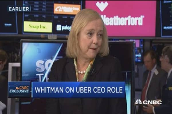 HPE's Meg Whitman: Ultimately Uber wasn't the right role
