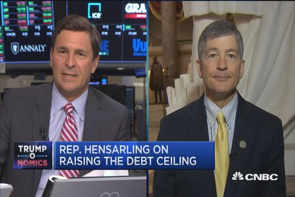 We will never as a nation default on our sovereign debt: Rep. Jeb Hensarling