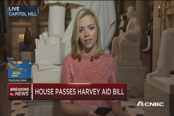House of Representatives have enough votes to pass Harvey relief bill