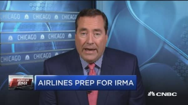 Airlines prepare for Irma by canceling flights, waiving fees