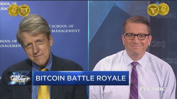 Trader takes on Nobel Prize winner who says Bitcoin is in a bubble