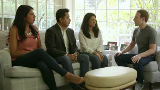Facebook CEO Mark Zuckerberg hosts DACA immigrants at his home in Palo Alto, Ca., Wed., Sept. 6, 2017