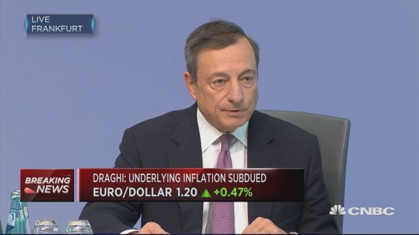 Decide in the fall on policy calibration for next year: Draghi