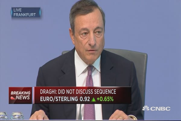 ECB's Draghi: Euro FX rate will have consequences