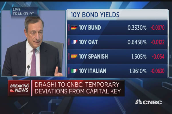 Don't see systemic danger from bubbles: Draghi