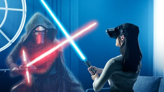 The 'Star Wars: Jedi Challenges' game requires players to wear the Lenovo Mirage augmented reality headset