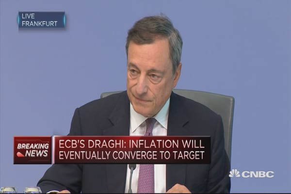 Draghi: Need confidence, patience and persistence on inflation