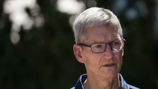 Sad Tim Cook