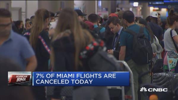 Airlines preparing for Hurricane Irma