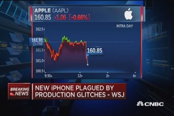 WSJ: New iPhone plagued by production glitches