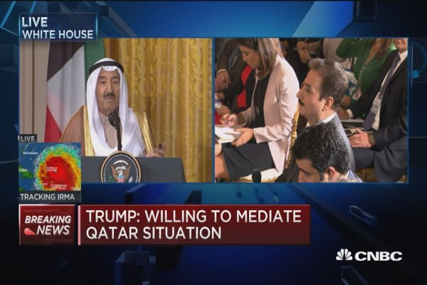 Trump: Willing to mediate the Qatar situation