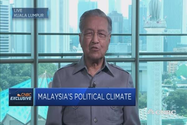 Former Malaysian PM Mahathir: I want to defeat Najib at the next election