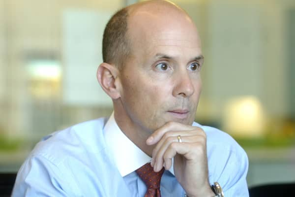 Equifax CEO Richard F. Smith speaks with Bloomberg News reporters on Thursday, March 15, 2007.