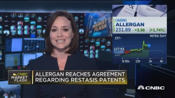 Allergen reaches agreement regarding Restasis patents