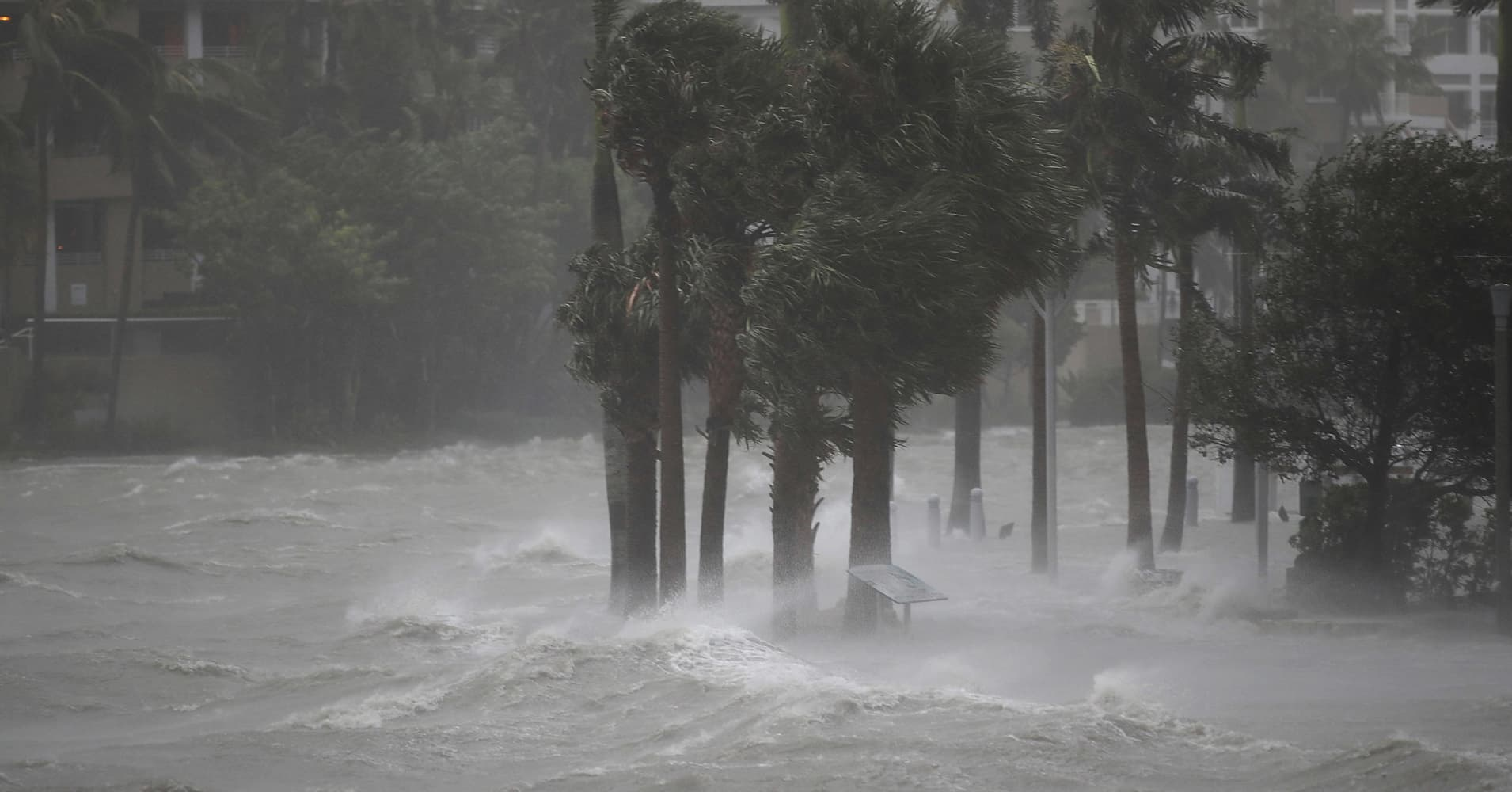 Hurricane Irma wallops Miami, topples second crane, floods streets