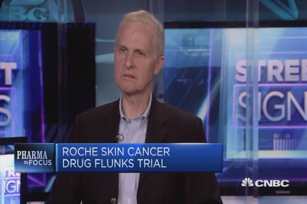 Roche skin cancer drug flunks trial