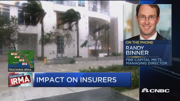 Likely to see rally in property-casualty stocks after Irma: FBR Capital's Randy Binner
