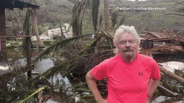Richard Branson reveals devastation of hurricane-hit private island