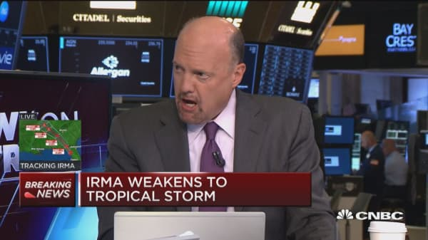 Irma not strong enough to knock down stocks: Jim Cramer