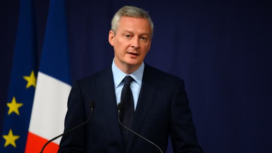 France's Bruno Le Maire.