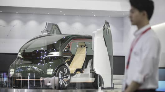 Honda Motor Co.'s NeuV concept car on display at the Consumer Electronics Show (CES) Asia in Shanghai, China.