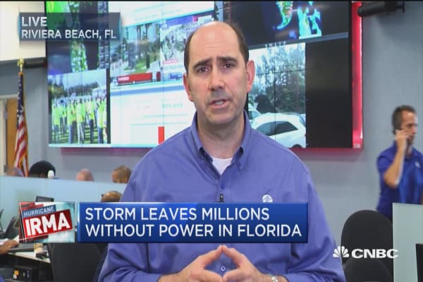Florida Power & Light VP: We've restored power to 1.5 million outages