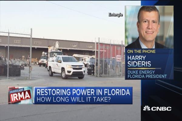 Duke Energy: 1.2 million customers without power