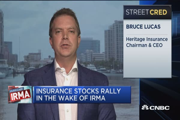 Heritage Insurance CEO: Based on the track of the storm, right now we're seeing an estimated loss of about $200-300 million
