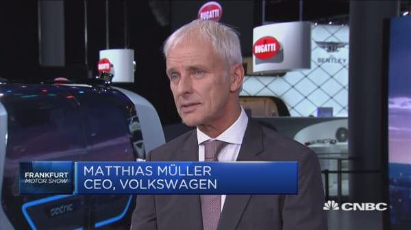 VW CEO: Tesla business model not a threat to us