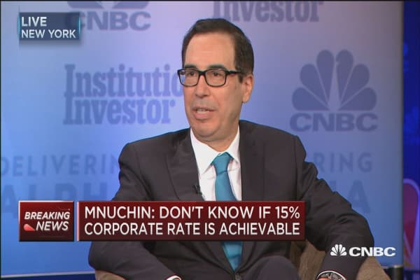 Treasury's Steve Mnuchin: Hedge funds will not have benefit of carried interest