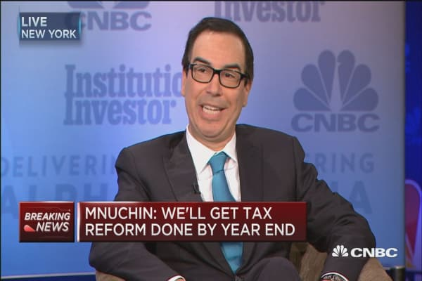 Treasury's Steve Mnuchin: We are super-focused on tax reform