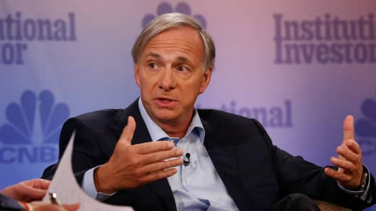 Ray Dalio speaking at the 2017 Delivering Alpha conference in New York on Sept. 12, 2017.