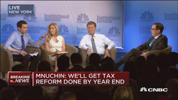 Treasury's Mnuchin: Markets are rallying on tax reform expectations