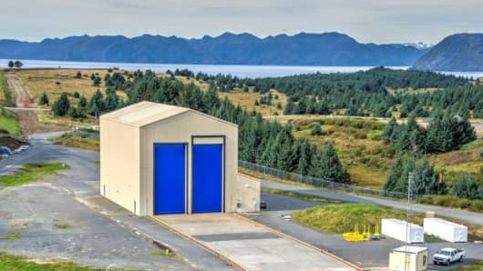 The integration and processing facility at the Pacific Spaceport Complex in Kodiak Island, Alaska.