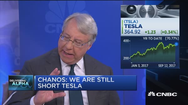 Jim Chanos is still short Tesla