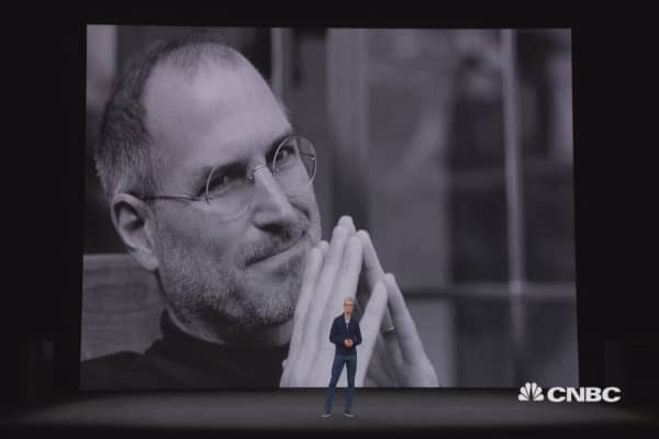 Watch Tim Cook honor Steve Jobs with emotional address