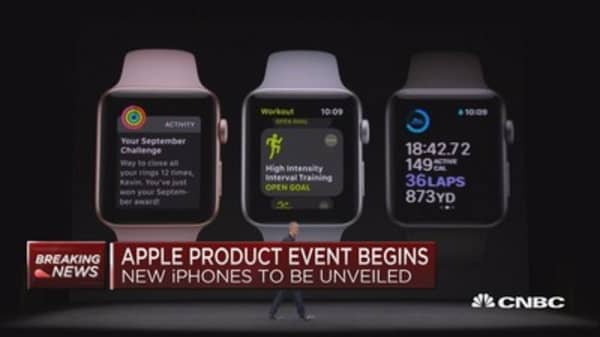 Apple unveils Apple Watch Series 3