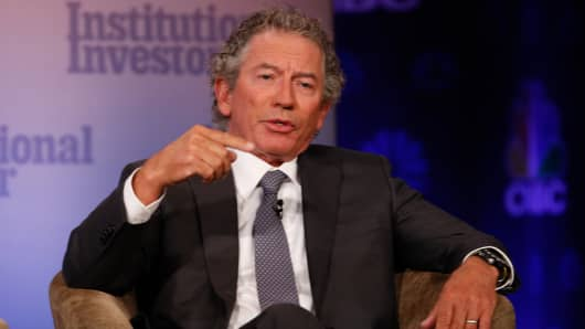 Tom Siebel speaking at the 2017 Delivering Alpha conference in New York on Sept. 12, 2017.