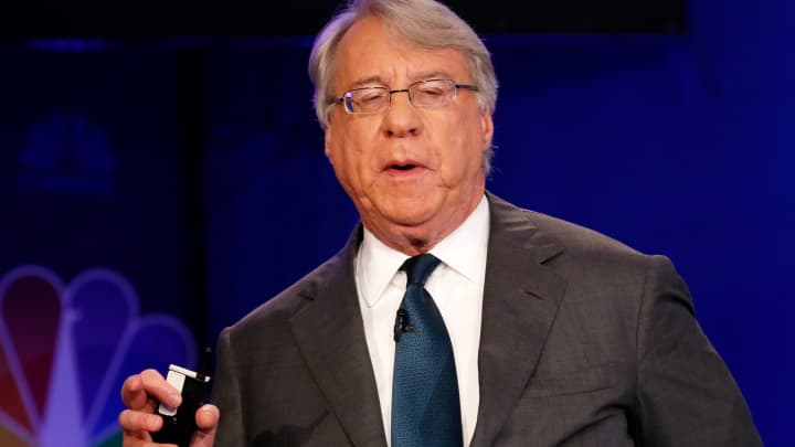 Jim Chanos speaking at the 2017 Delivering Alpha conference in New York on Sept. 12, 2017.