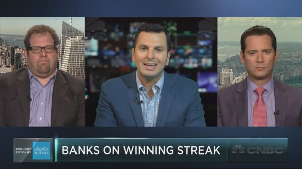 Bank stocks on a winning streak