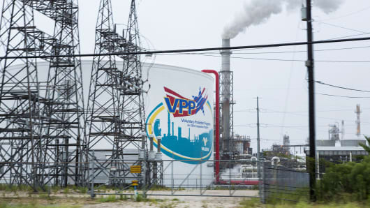 The Valero Energy refinery in Texas City, Texas.