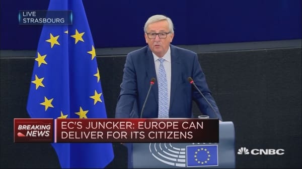 European Commission 'careful not to kill growth', President Juncker says