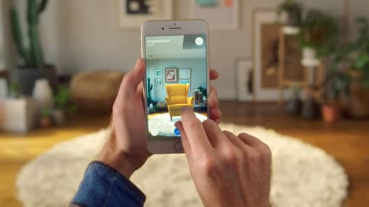 Ikea introduces new Ikea Place augmented reality app.